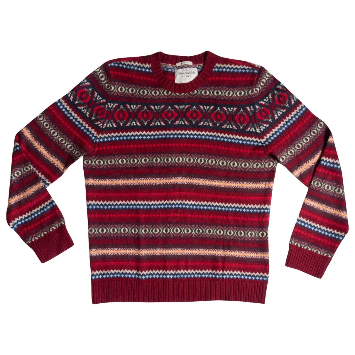 Abercrombie & Fitch \N Pullover.Westen.Sweatshirts  in  Rot Baumwolle