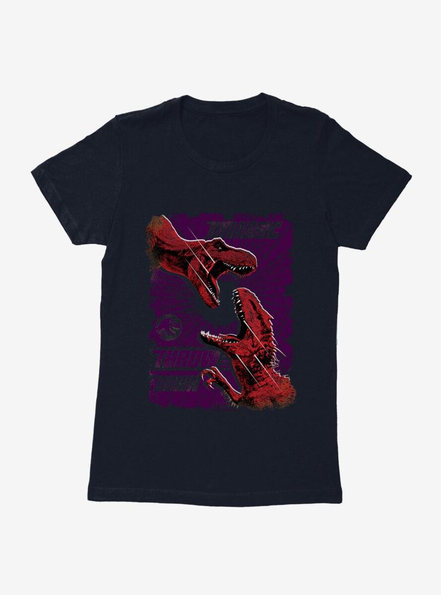 Jurassic World Throw Down Womens T-Shirt