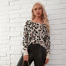Leopard Tie Back Sweater