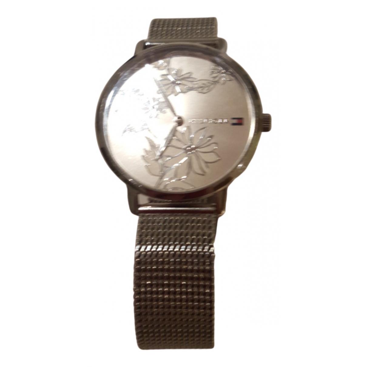 Tommy Hilfiger \N Uhr in  Silber Stahl