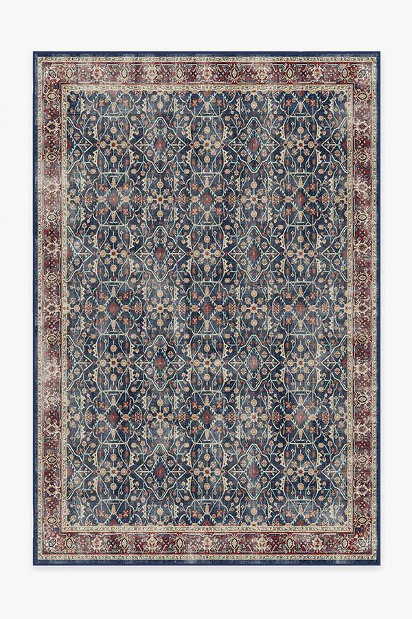 Washable Rug Cover | Celestine Sapphire Rug | Stain-Resistant | Ruggable | 6'x9'
