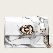 Marble Pattern Crossbody Bag