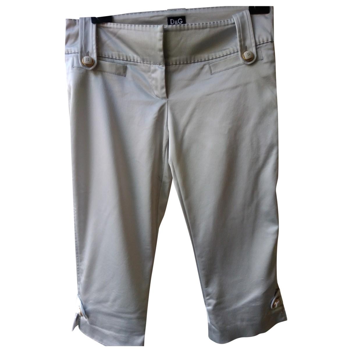 D&g \N Silver Trousers for Women 44 IT