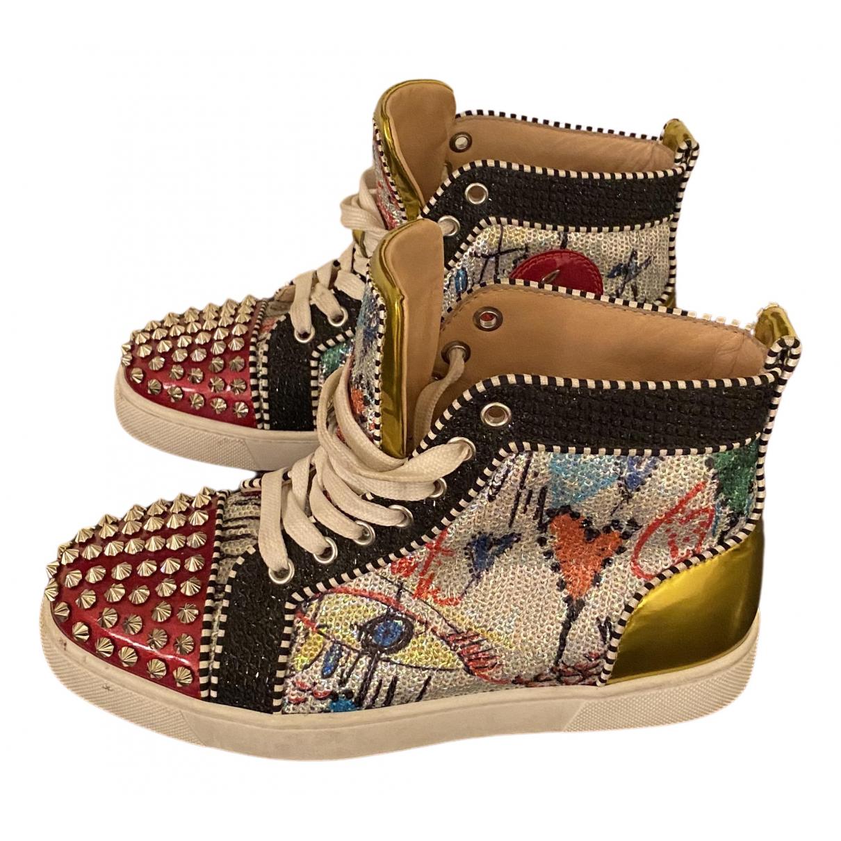 Christian Louboutin Lou Spikes Sneakers in  Bunt Leder