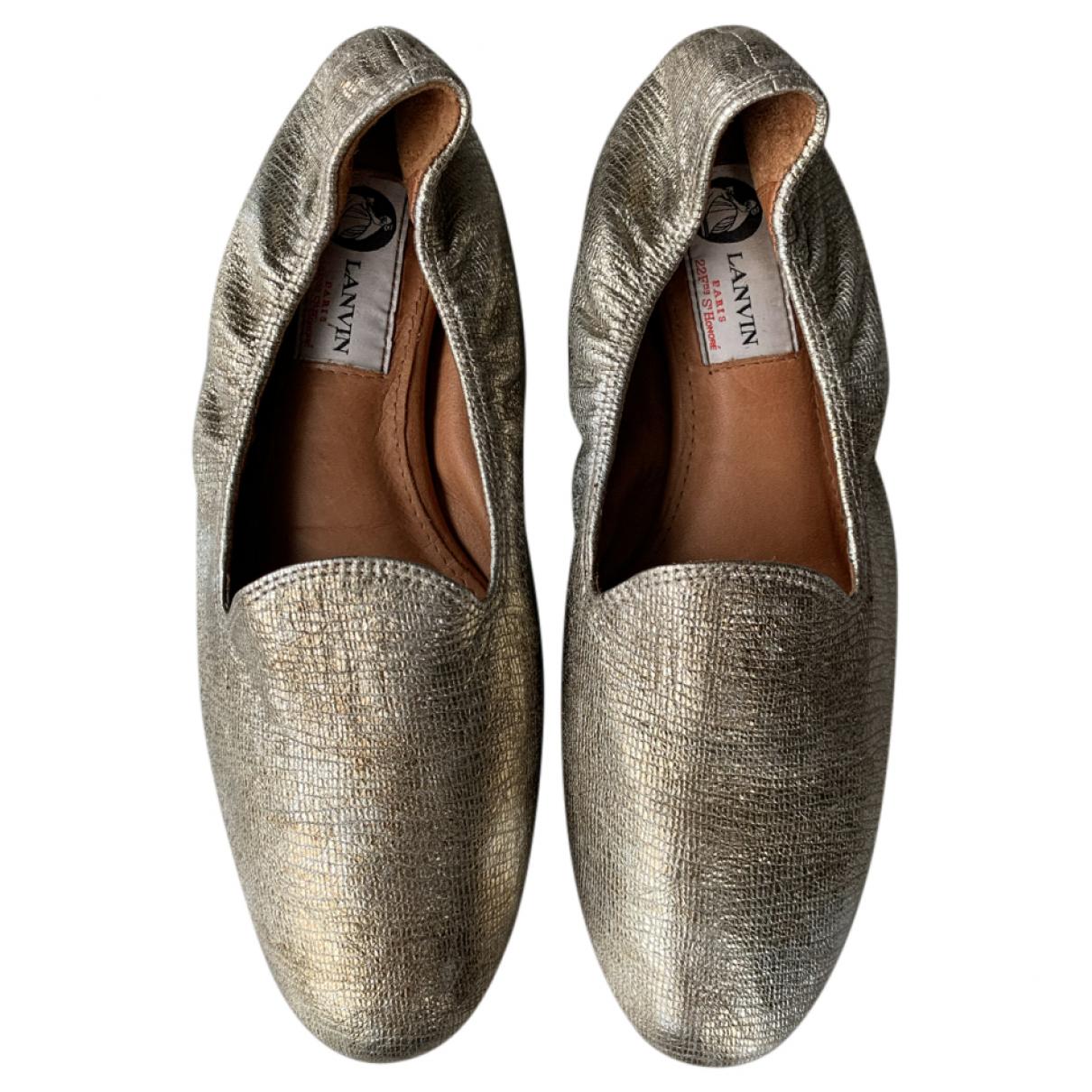 Lanvin \N Ballerinas in  Metallic Leder