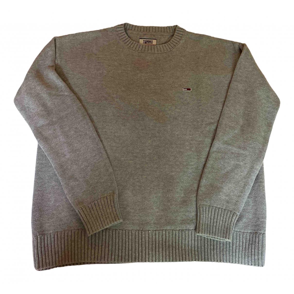 Tommy Jean - Pull   pour femme en coton - gris