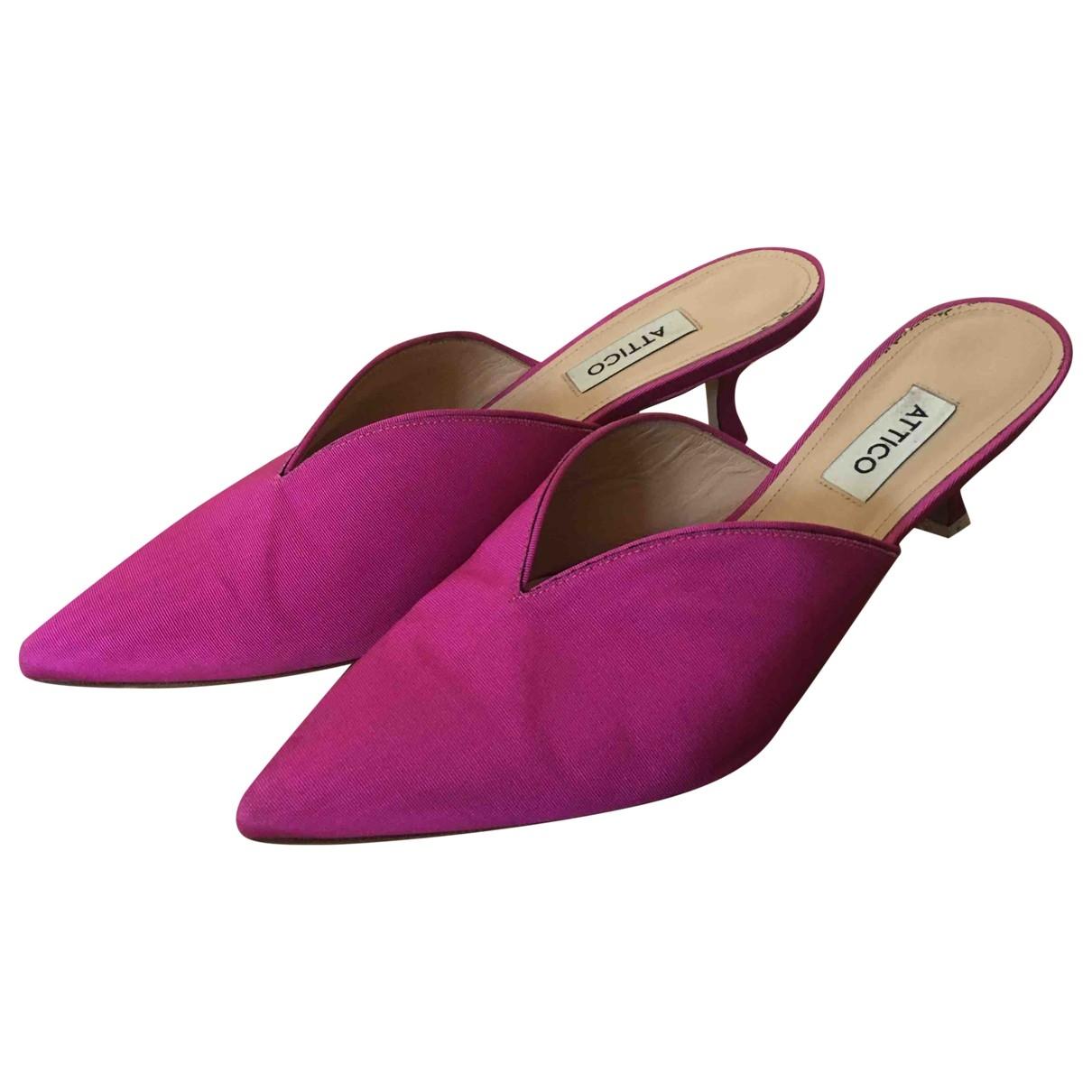 Attico \N Pink Cloth Mules & Clogs for Women 39.5 EU