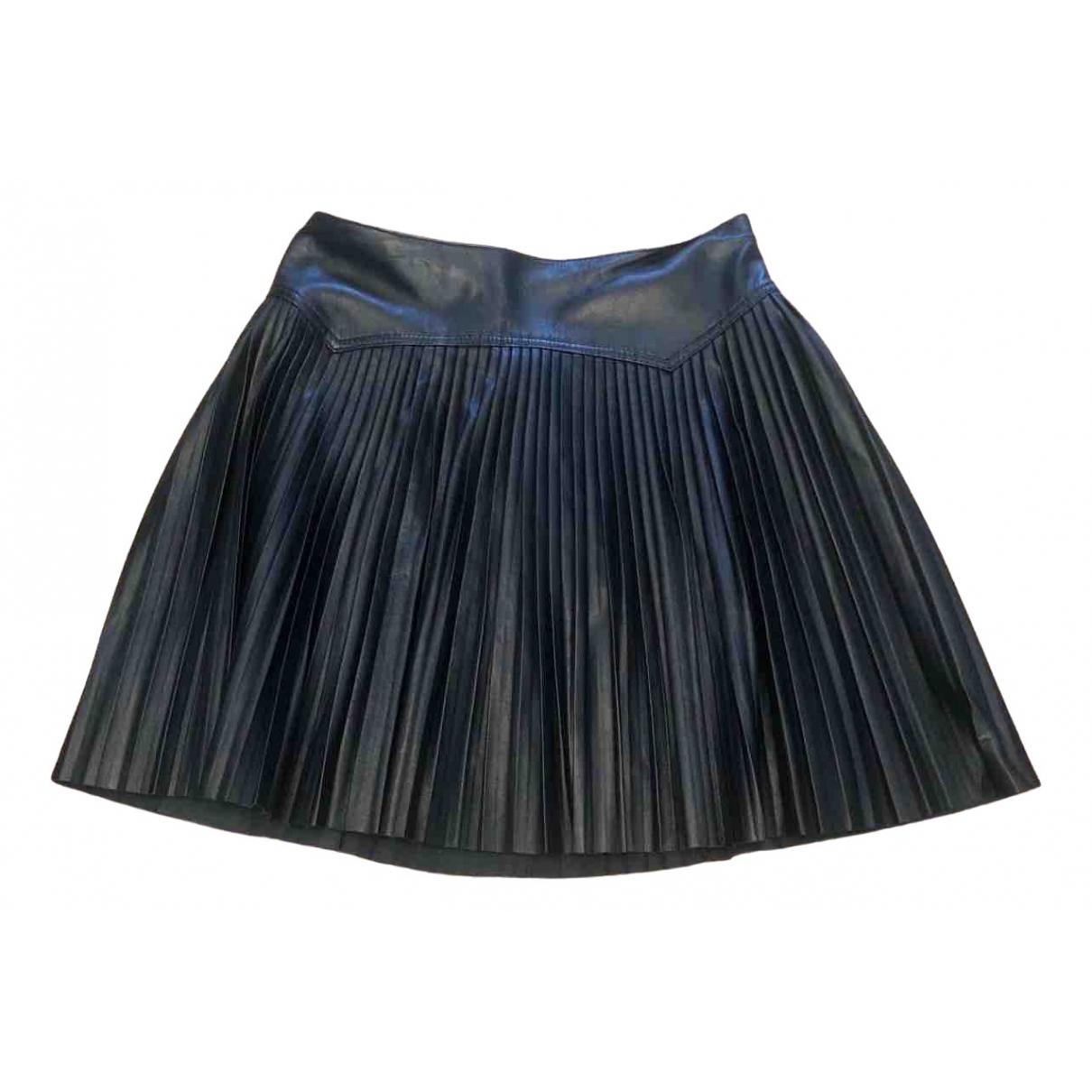 Alexander Mcqueen \N Black Leather skirt for Women 34 FR
