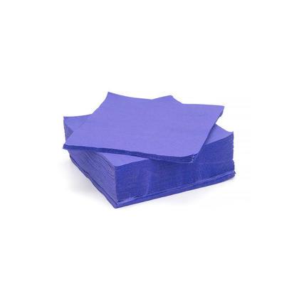 2 plis serviettes de table jetables en papier pour déjeuner, 33x33CM 50Pcs - LIVINGbasics™ - Bleu