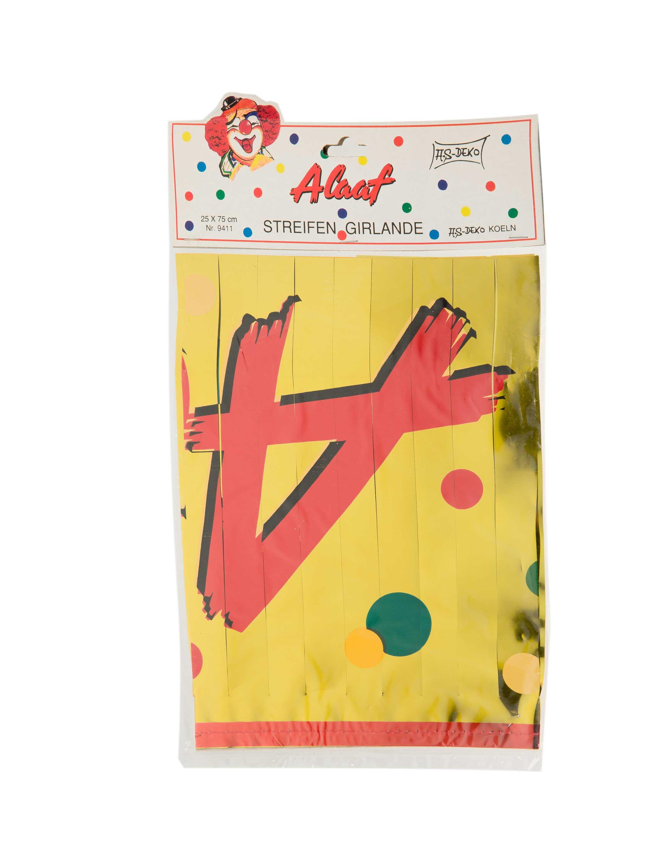Girlande Alaaf Folie 0,75m Farbe: gold