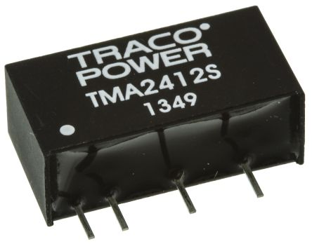 TRACOPOWER TMA 1W Isolated DC-DC Converter Through Hole, Voltage in 21.6 → 26.4 V dc, Voltage out 12V dc
