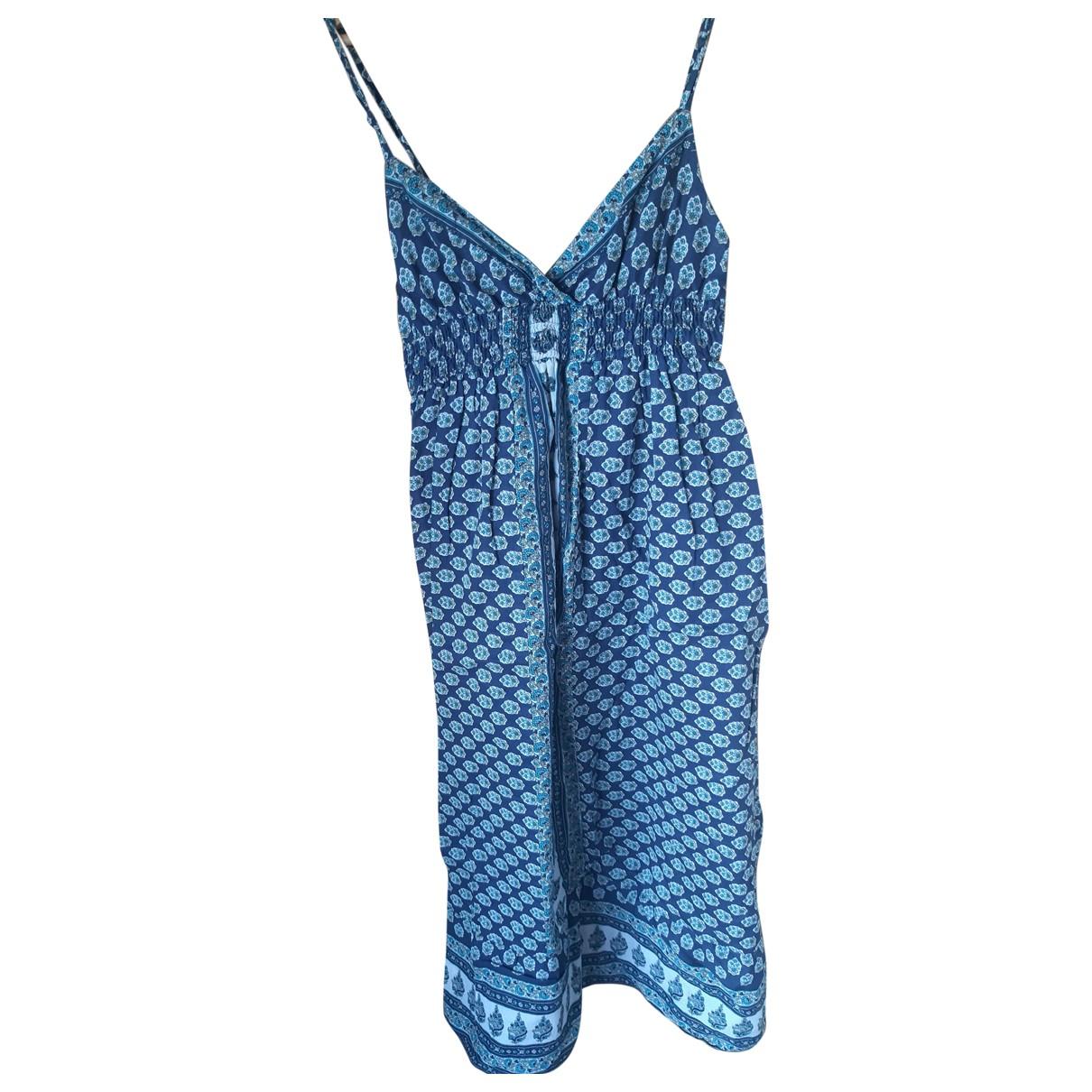 Mango \N Kleid in  Blau Baumwolle