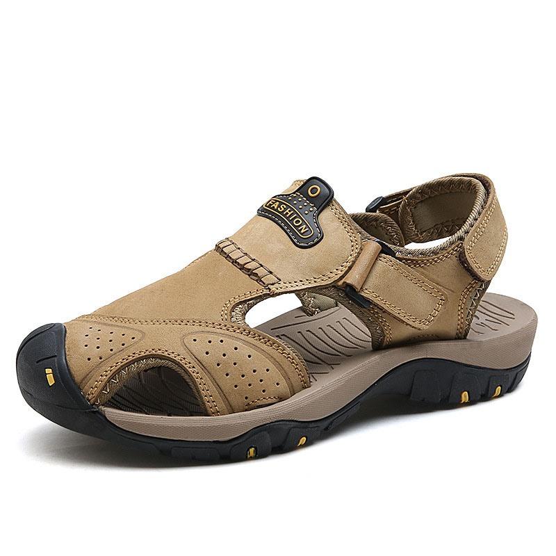Ericdress Low-Cut Upper Velcro Flat Heel Round Toe Sandals
