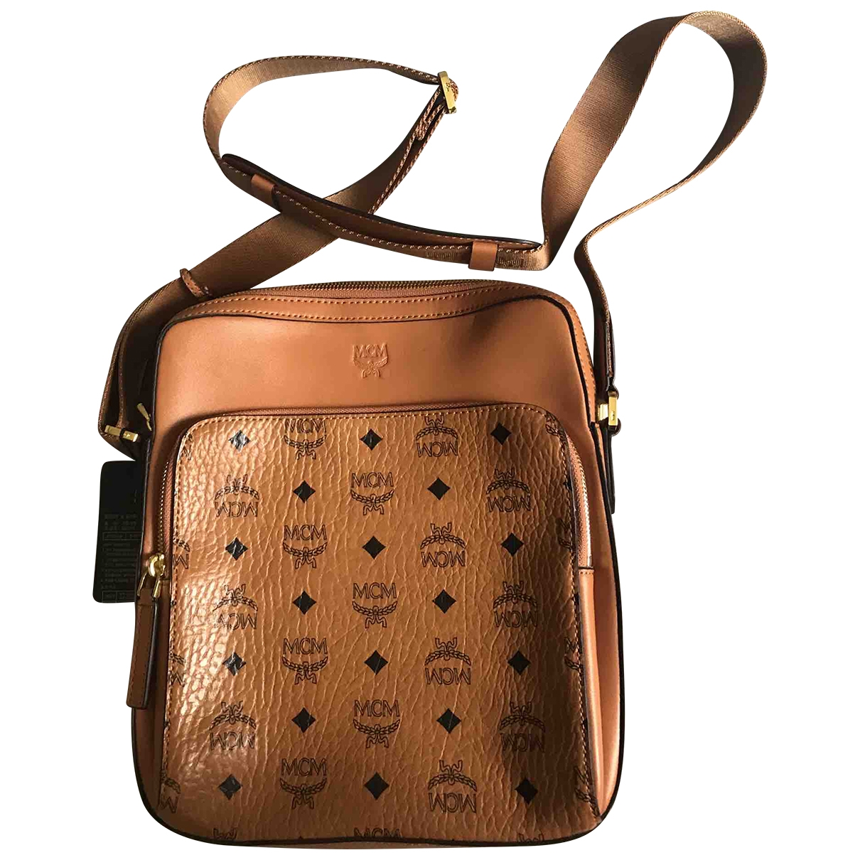 Mcm \N Brown Leather bag for Men \N