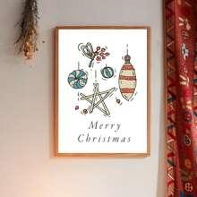 Wandmalerei mit Weihnachten Muster ohne Rahmen