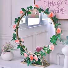 1pc Artificial Rose String Light With 20pcs Bulb