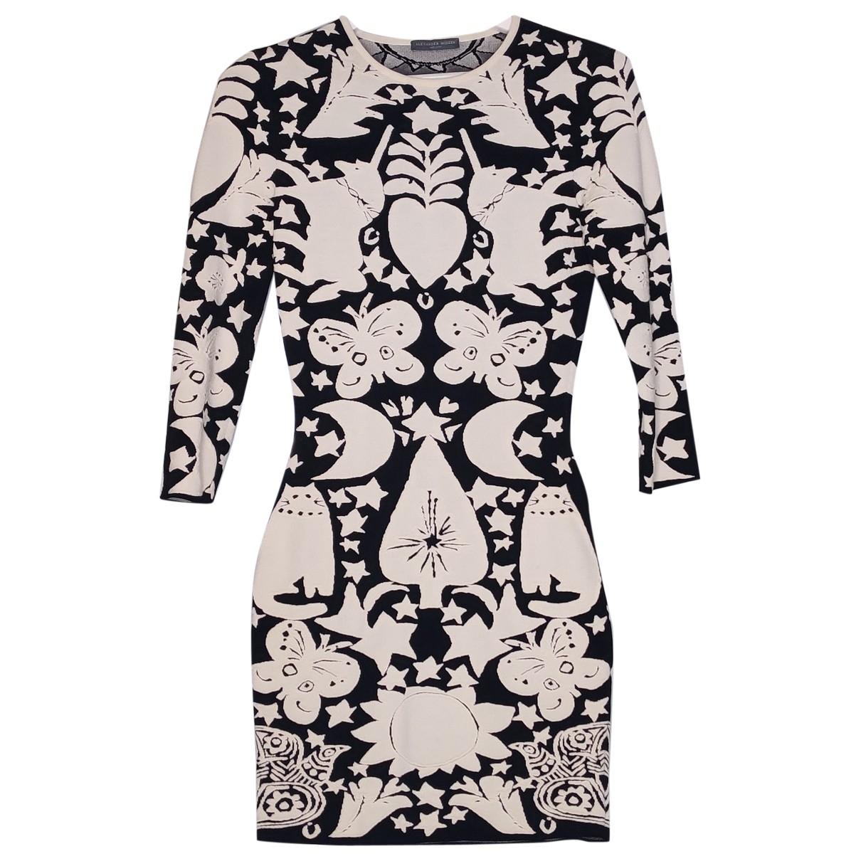 Alexander Mcqueen - Robe   pour femme en laine - noir