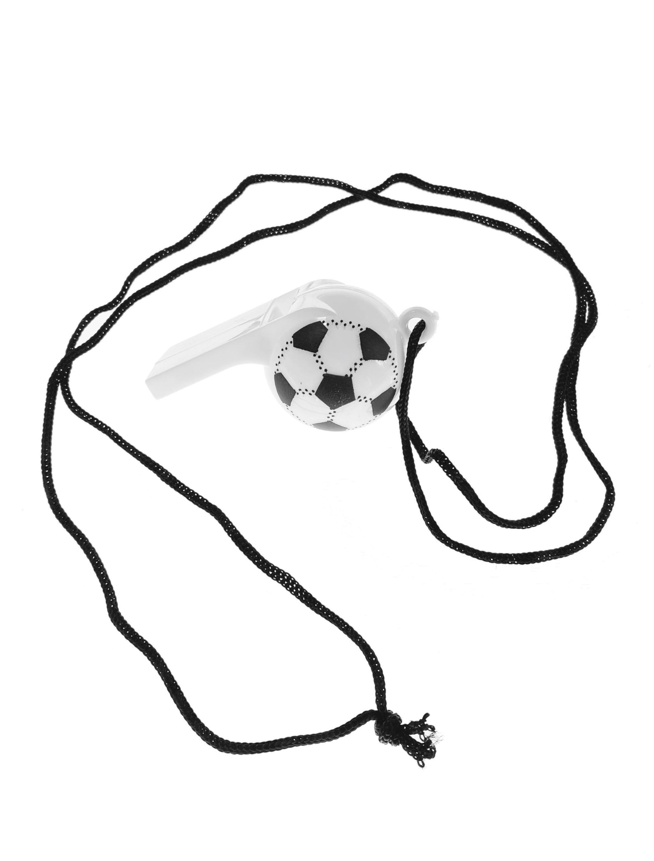 Kostuemzubehor Trillerpfeife Fussball Farbe: Multicolor