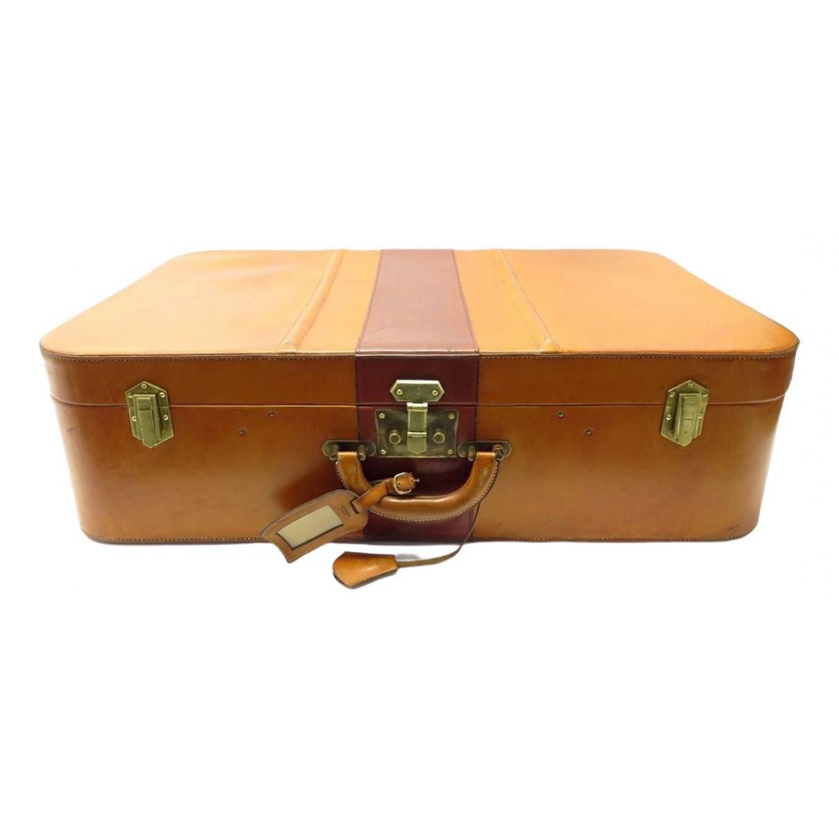 Hermès \N Camel Leather Travel bag for Women \N