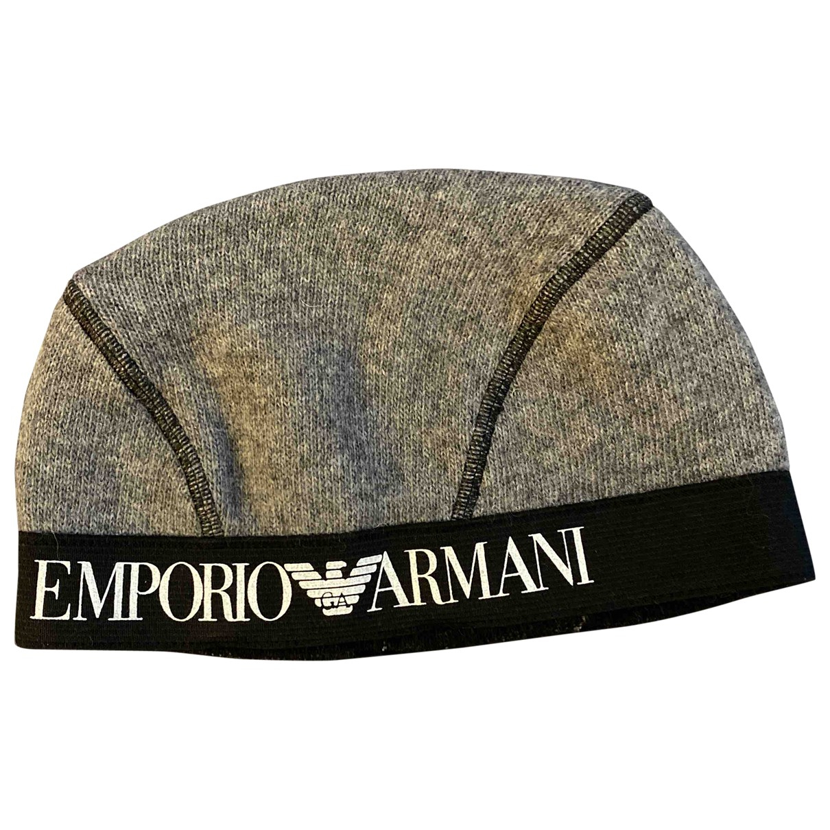 Emporio Armani N Grey Wool hat for Women 57 cm