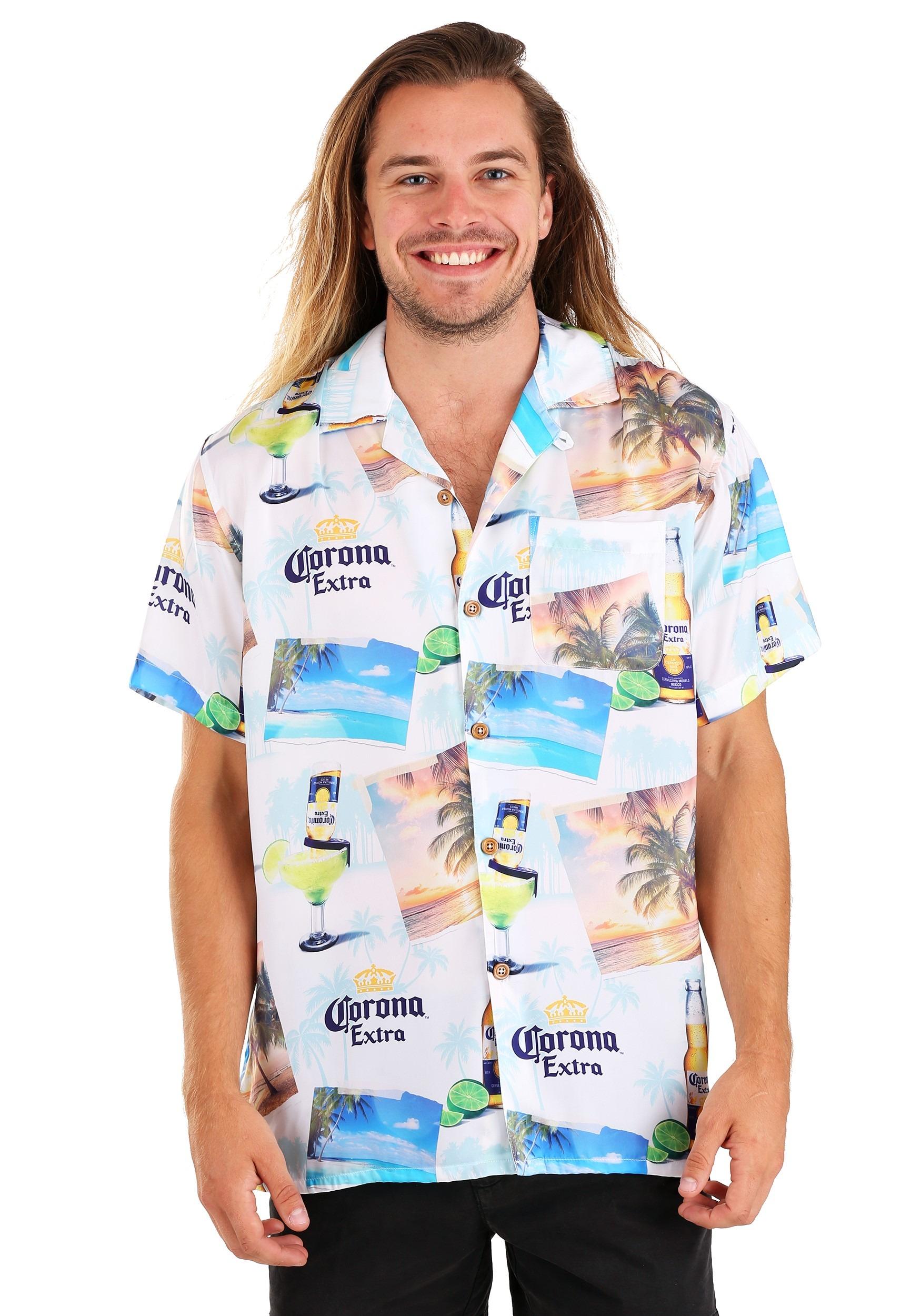 Men's Corona Button Up T-Shirt
