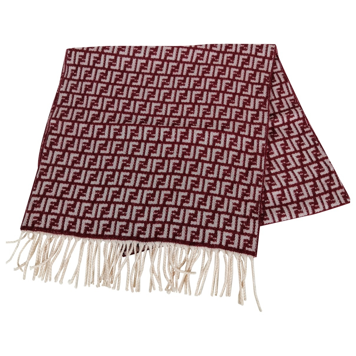 Fendi \N Red Wool scarf & pocket squares for Men \N