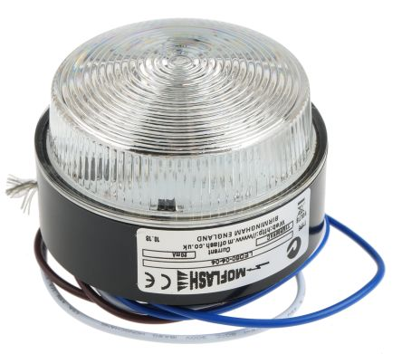 Moflash LED 80 Green LED Beacon, 115 V ac, 230 V ac, , Multiple Effect, Surface Mount
