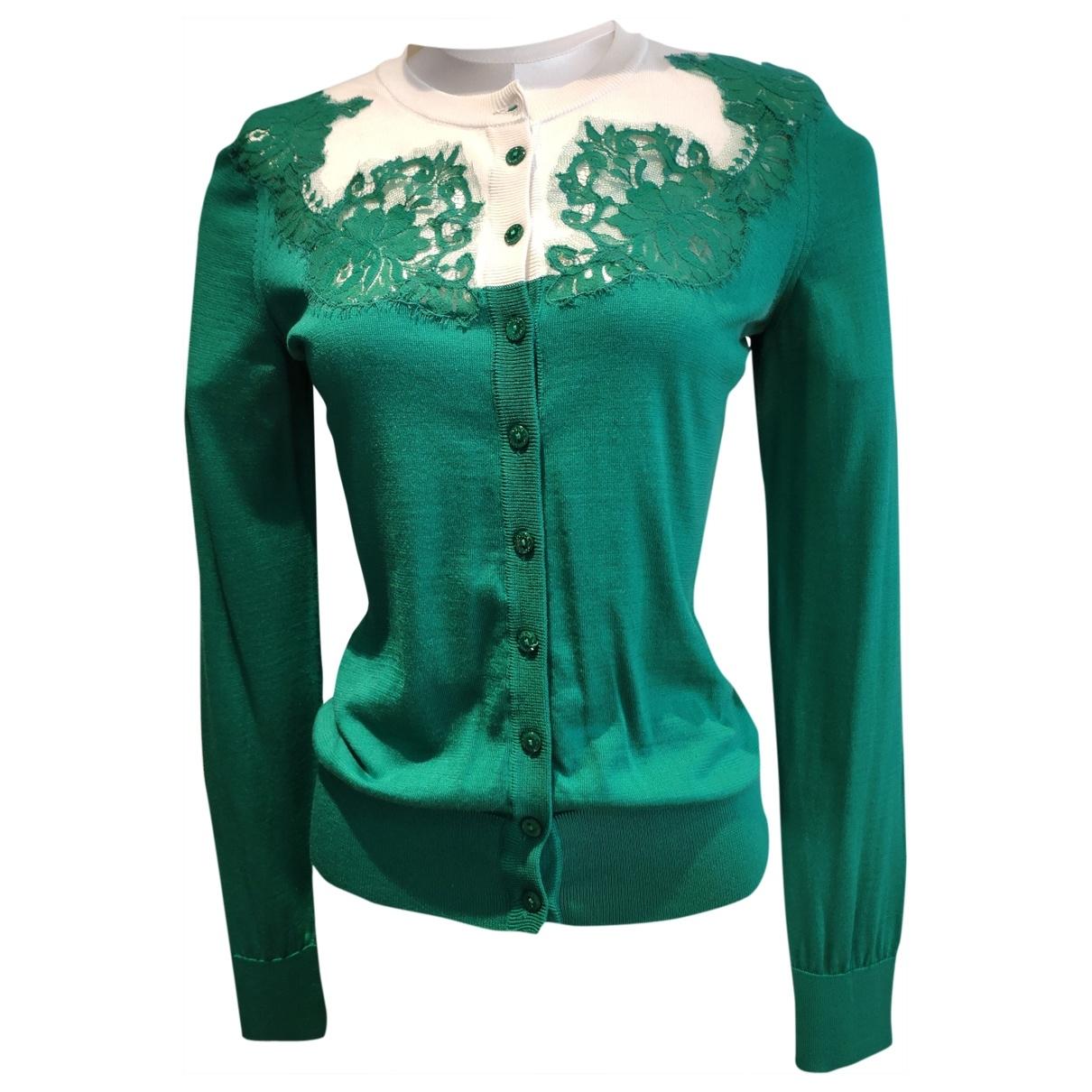 Dolce & Gabbana \N Green Silk Knitwear for Women 36 FR