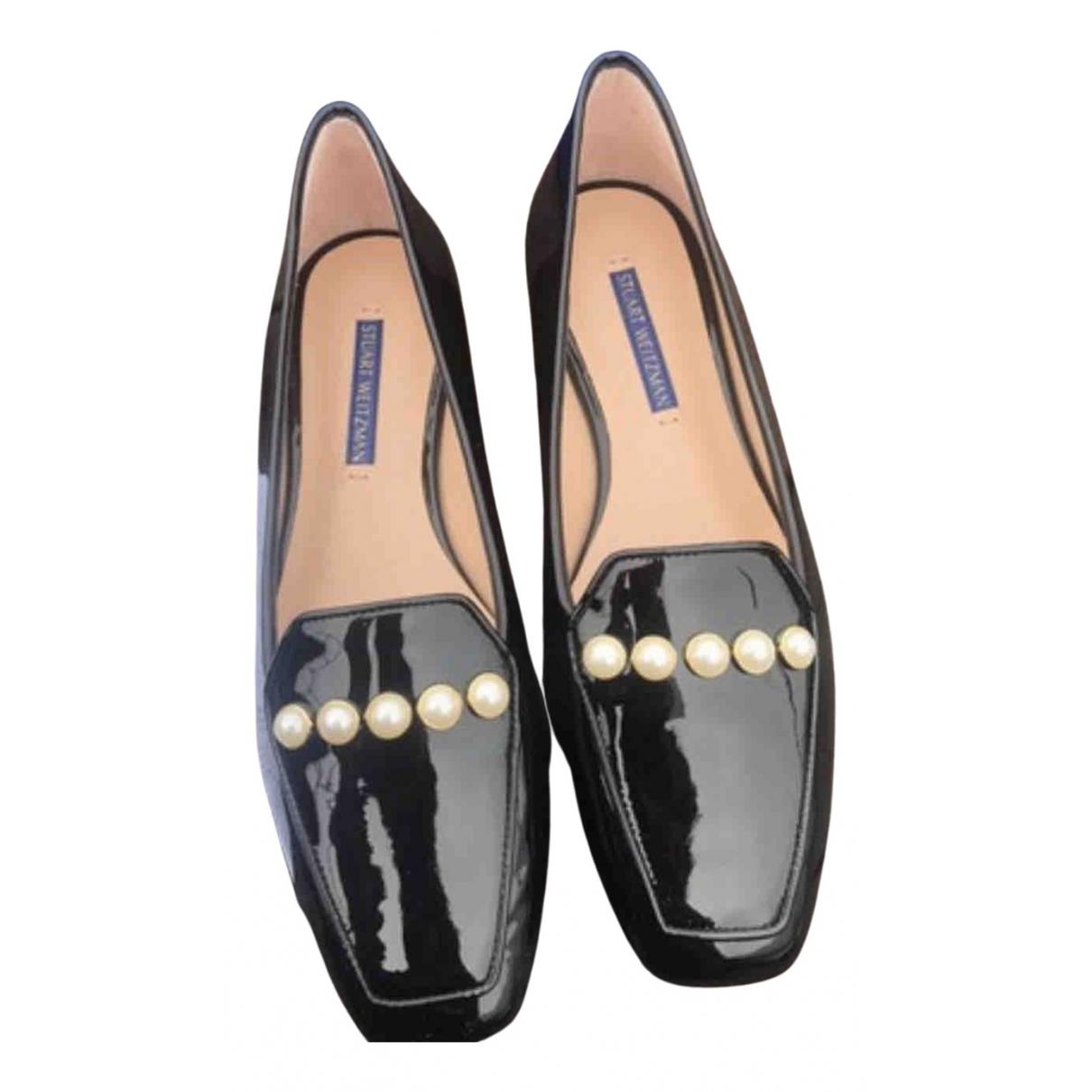 Stuart Weitzman \N Black Patent leather Flats for Women 38.5 EU
