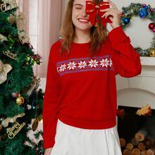 Christmas Ugly Print Sweatshirt