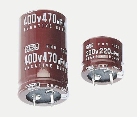 Nippon Chemi-Con 220μF Electrolytic Capacitor 200V dc, Through Hole - EKMM201VSN221MQ20S