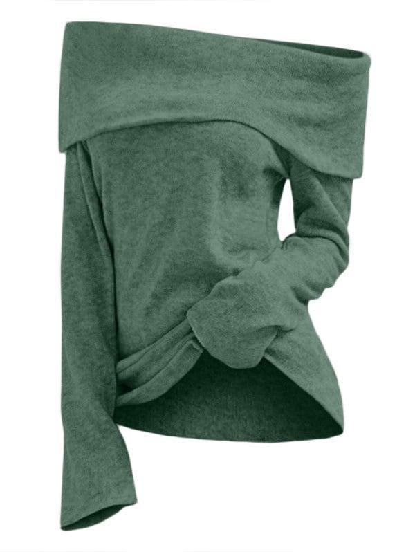 Off The Shoulder Foldover Knitwear