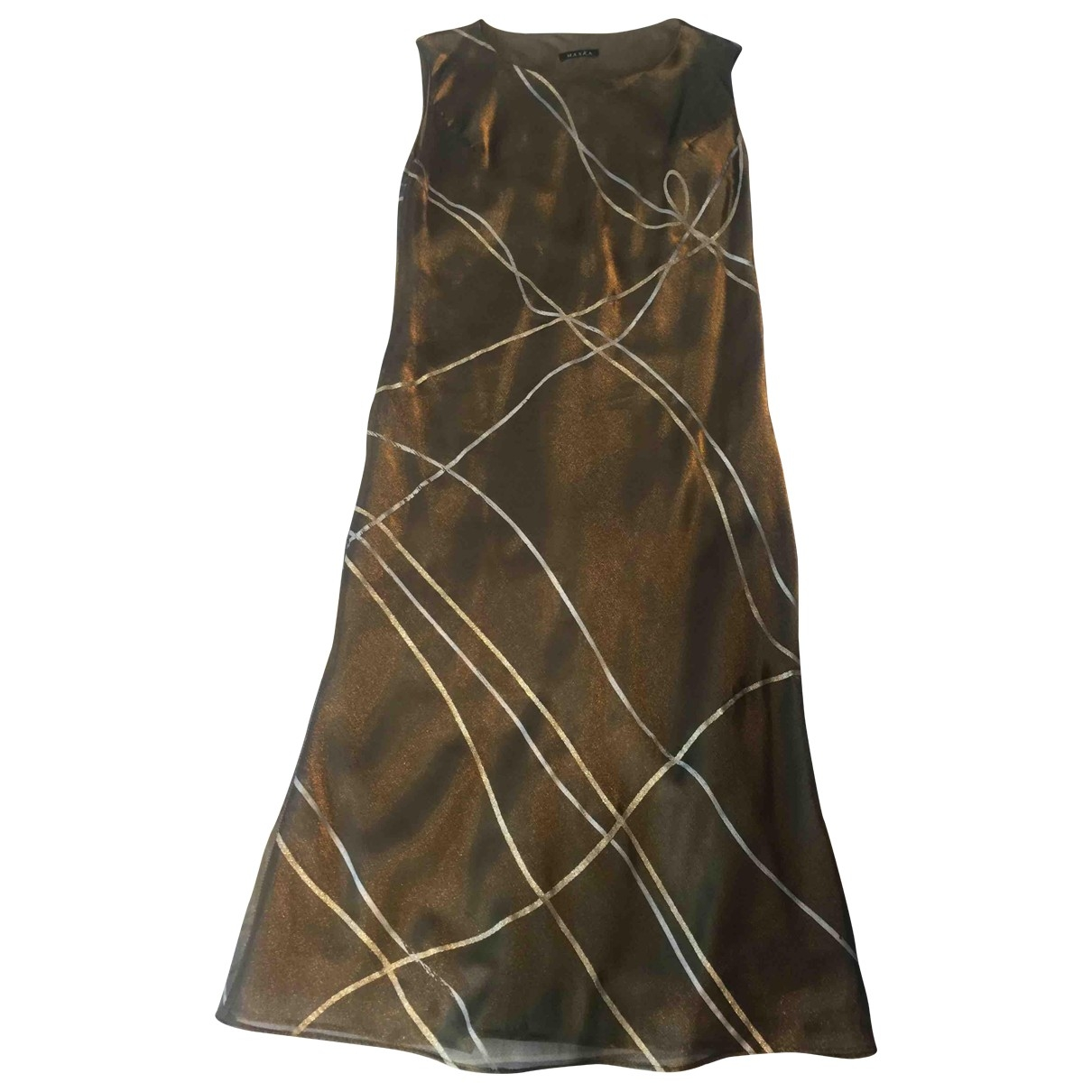Non Signe / Unsigned \N Kleid in  Khaki Polyester