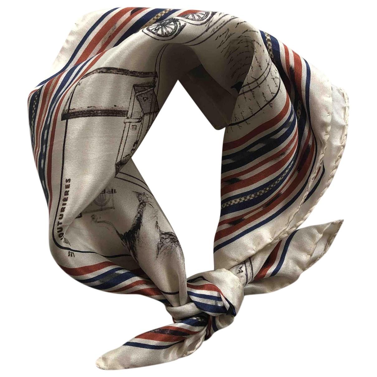 Louis Vuitton - Foulard   pour femme en soie - ecru
