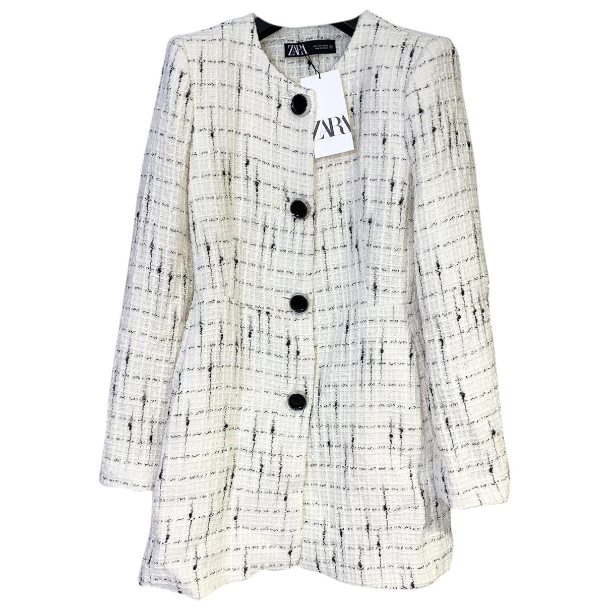Zara N White Tweed coat for Women S International