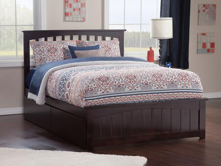 Mission Collection AR8746111 Queen Size Platform Bed with 2 Urban Bed Drawers  Matching Footboard  Hardwood Slat Kit and Eco-Friendly Solid Hardwood