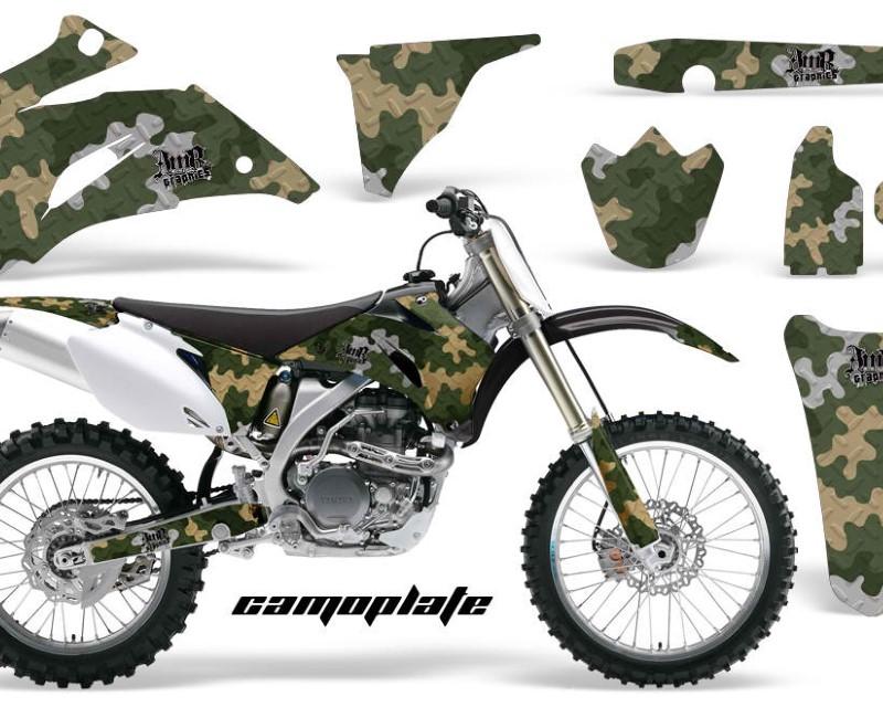 AMR Racing Dirt Bike Graphics Kit Decal Wrap For Yamaha YZ250F YZ450F 2006-2009áCAMOPLATE GREEN TAN