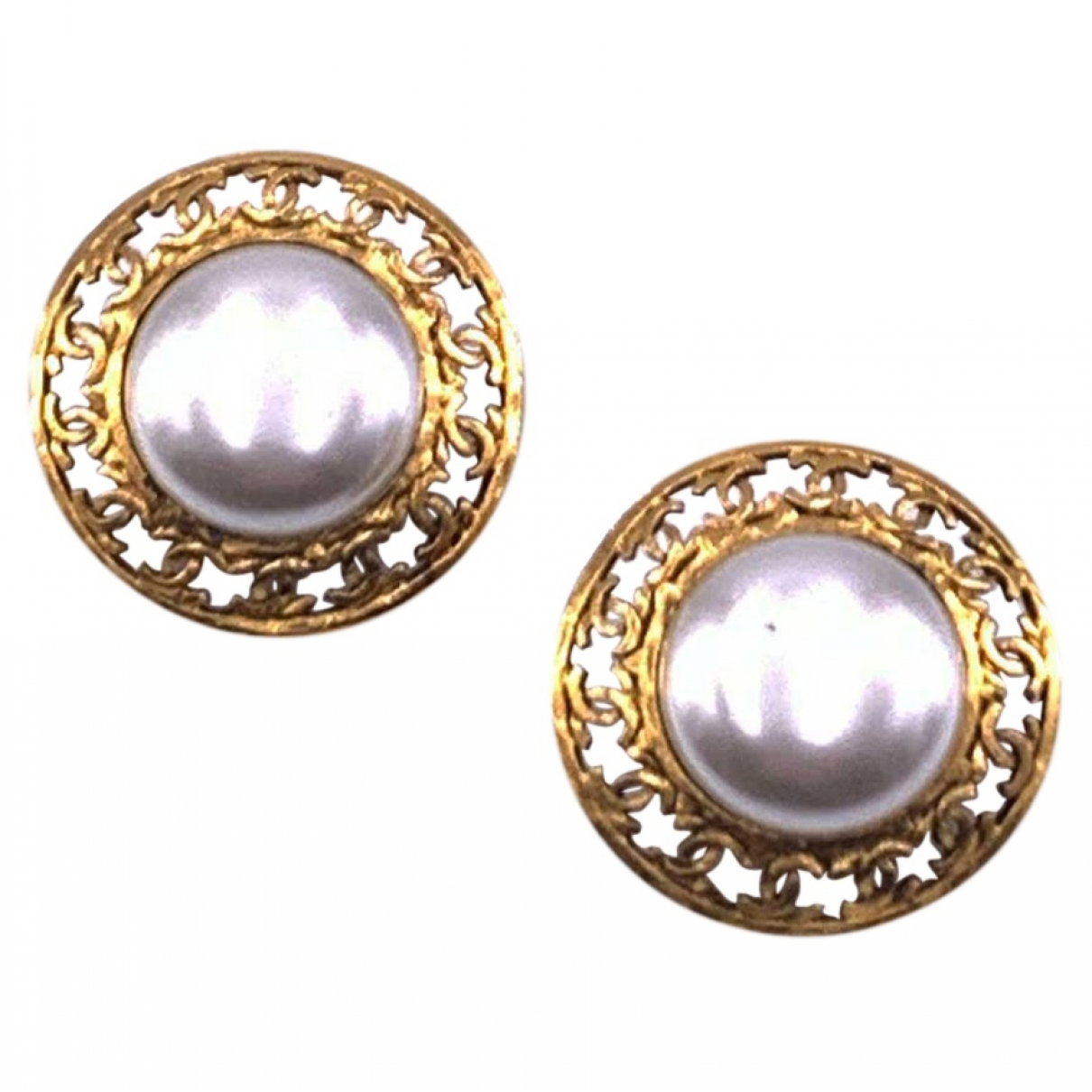 Chanel Baroque Gold Metal Earrings for Women \N