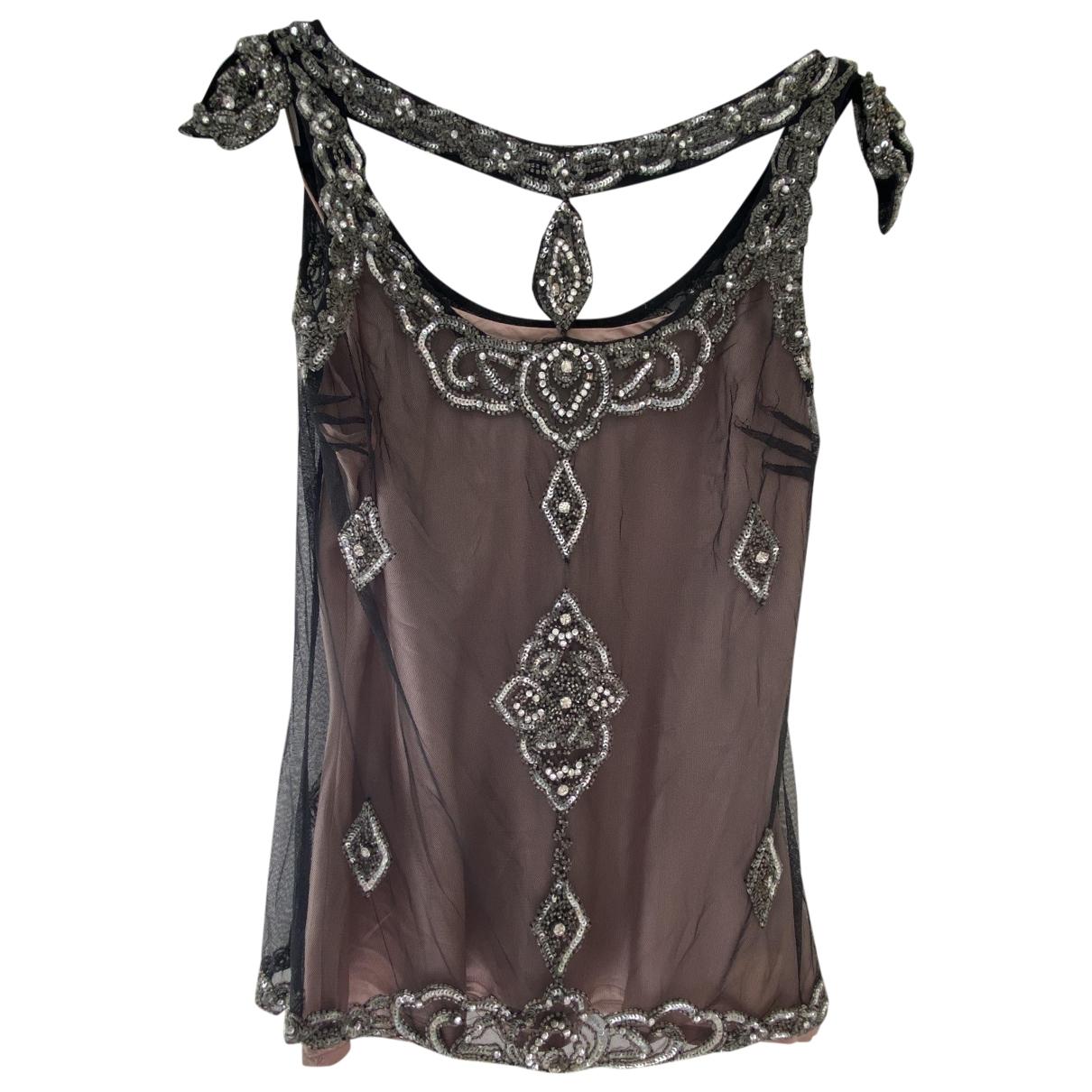 Antik Batik - Top   pour femme en soie - noir