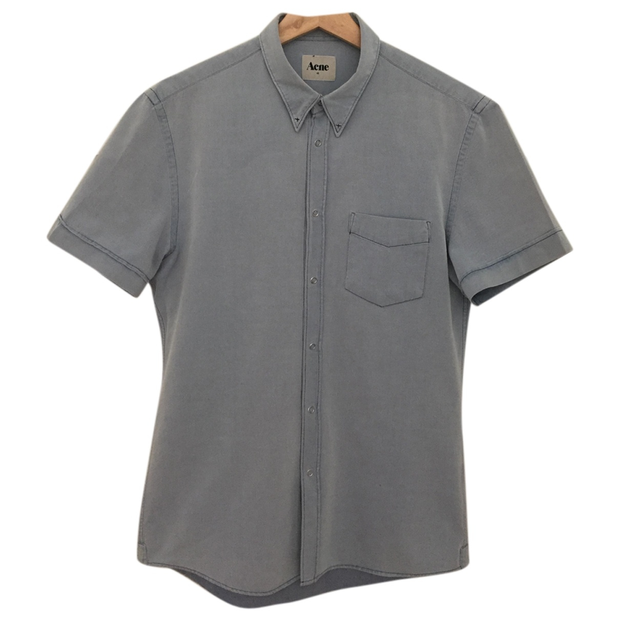 Acne Studios \N Blue Cotton Shirts for Men M International