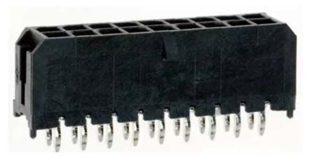 Molex , Micro-Fit 3.0, 43045, 18 Way, 2 Row, Straight PCB Header (5)