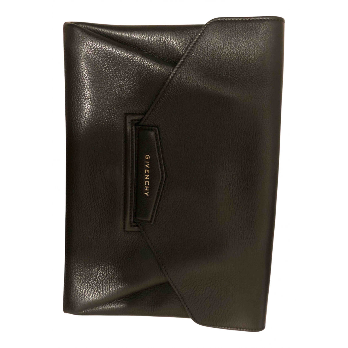 Givenchy Antigona Clutch in  Schwarz Leder
