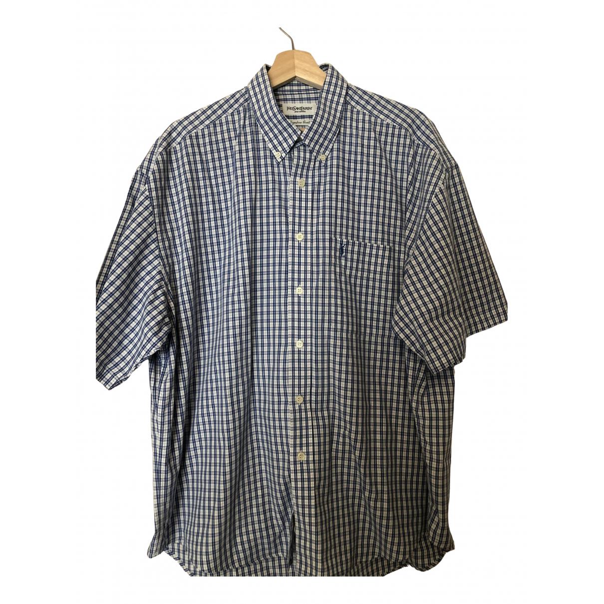 Yves Saint Laurent - Chemises   pour homme en coton - bleu