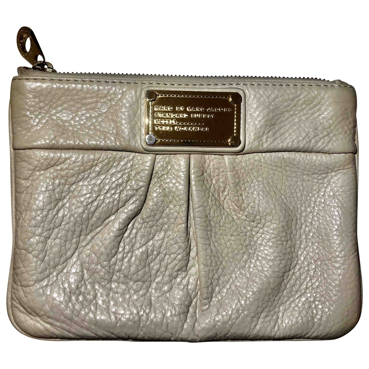 Marc By Marc Jacobs \N Clutch in  Weiss Leder