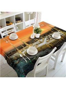 Modern Fashion Building Prints Design Dining Room Decoration 3D Tablecloth