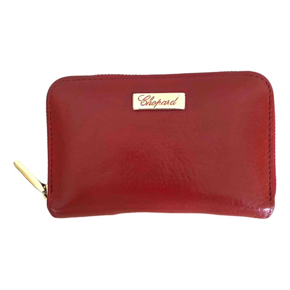 Chopard \N Portemonnaie in  Rot Leder