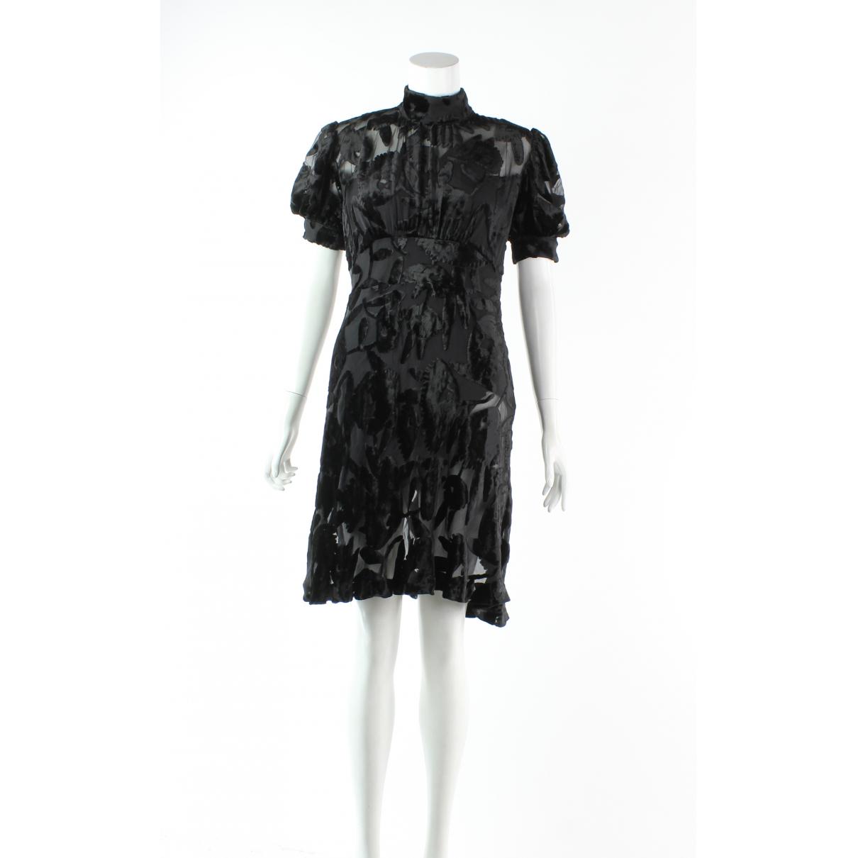 Alexander Mcqueen \N Kleid in  Schwarz Samt