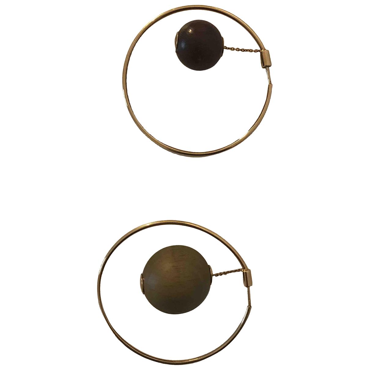 Jacquemus - Boucles doreilles   pour femme en bois - dore