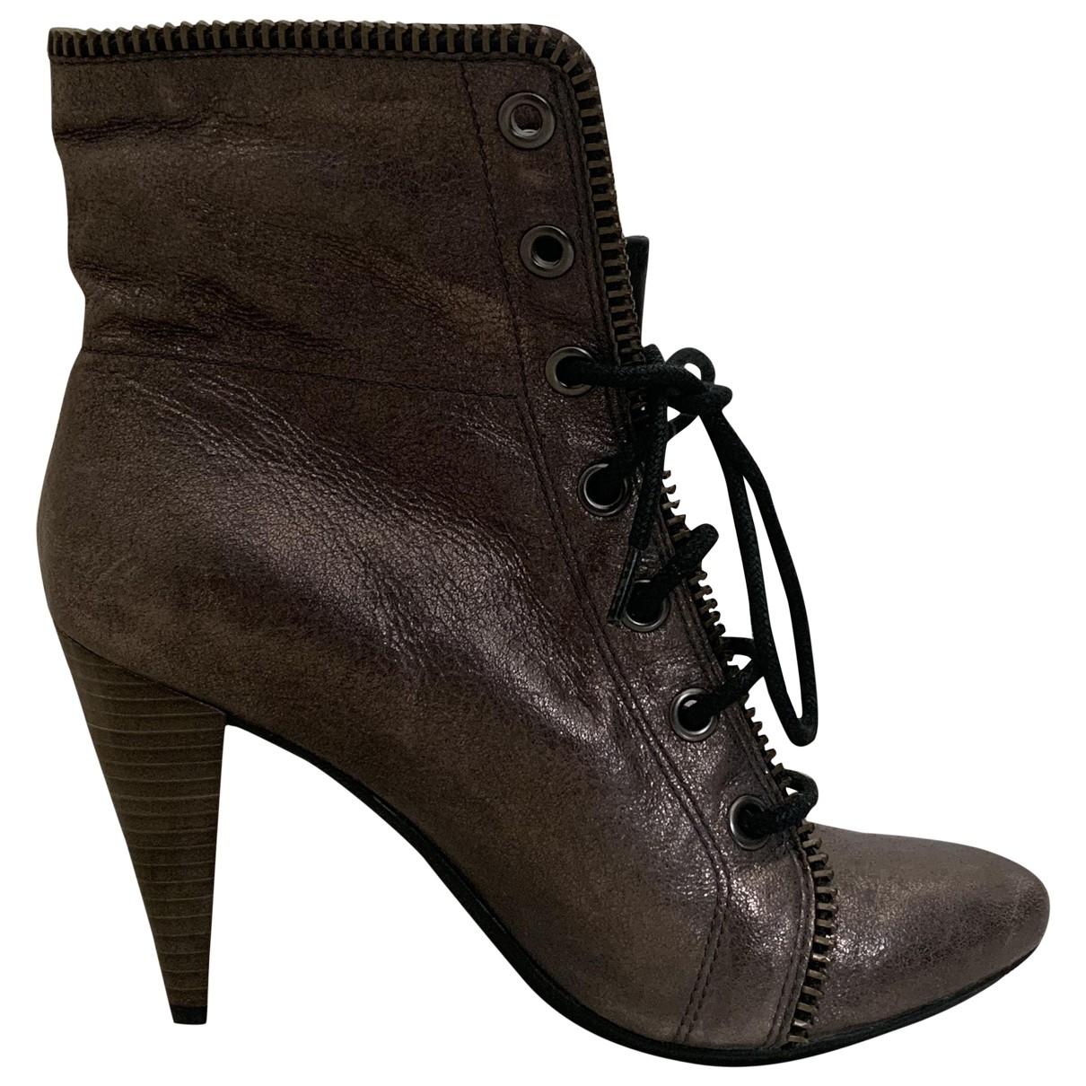 Coach - Boots   pour femme en cuir - metallise