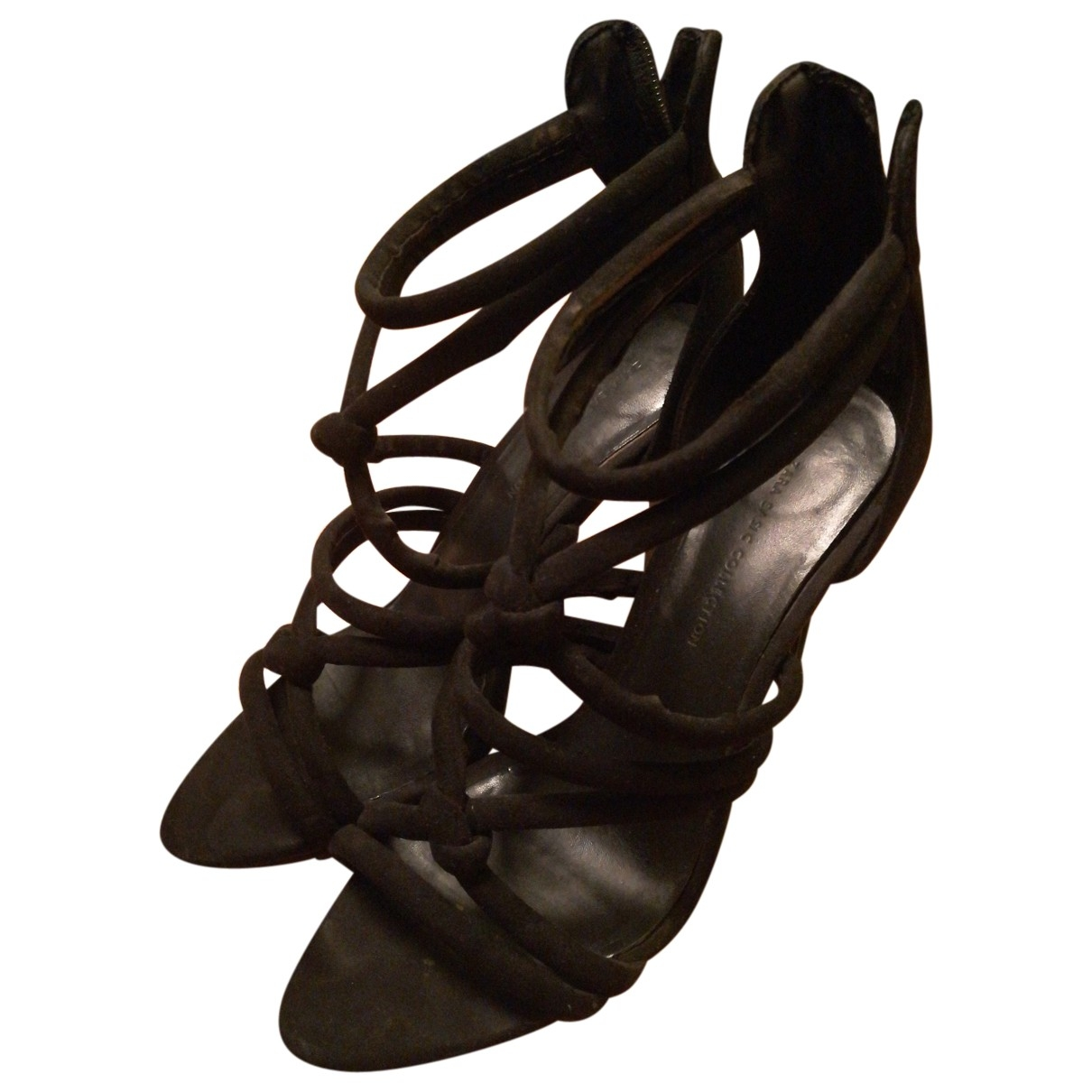 Zara \N Black Suede Sandals for Women 37 EU